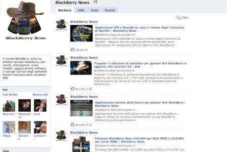 BlackBerry News Facebook Fan page