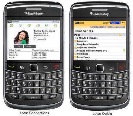 Applicazioni BlackBerry per Lotus