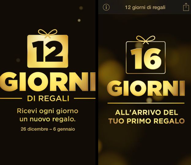 Apple presenta l'app 12 giorni di regali