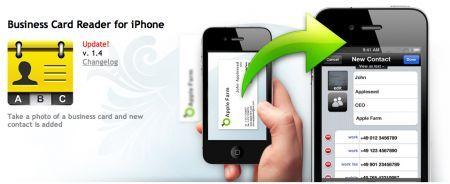 Business Card Reader per iPhone