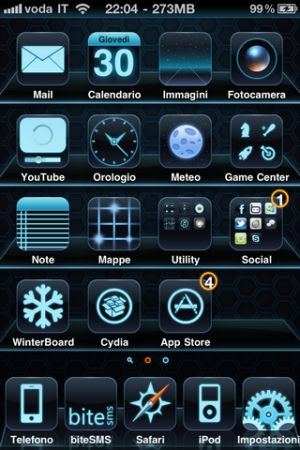 Tron i4, tema per iPhone
