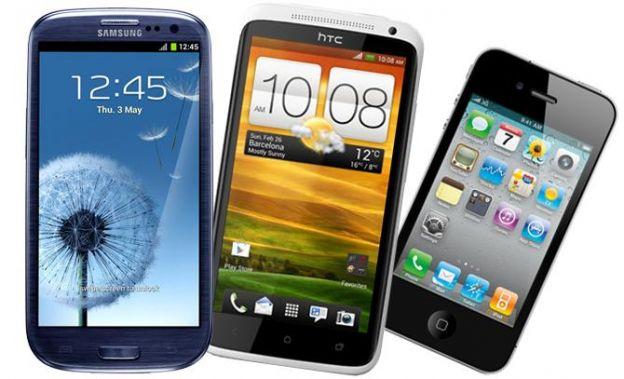 Samsung Galaxy S3 vs iPhone 4S vs HTC One X