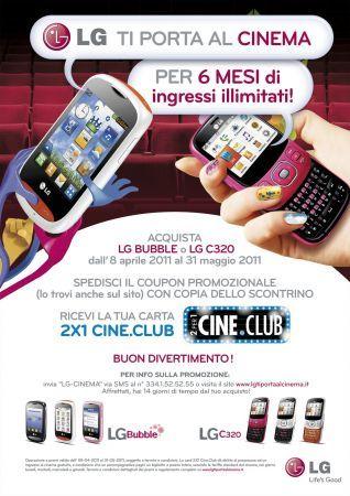 Cinema gratis con LG C320 e LG Bubble