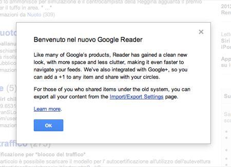Google+ e Google Reader uniti, ma non a tutti piace