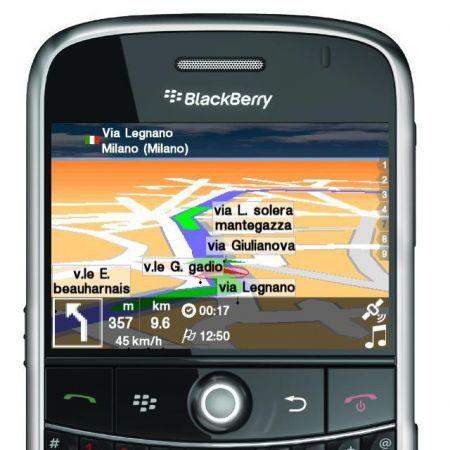 UbiNav: Il Navigatore GPS made in Italy per palmari Rim BlackBerry
