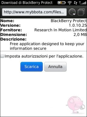 BlackBerry Protect: Disponibile il link al download