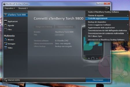 BlackBerry Desktop software 6.0.2.44 disponibile