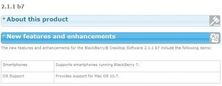 RIM rilascia BlackBerry Desktop Manager per Mac v.2.1.7, piena compatibilità con Lion