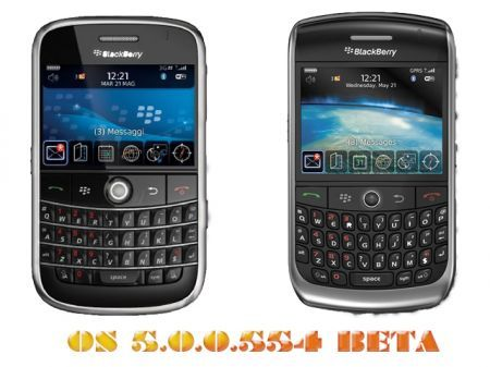 Firmware BlackBerry Beta: 5.0.0.554 per Bold 9000 e Curve 8900