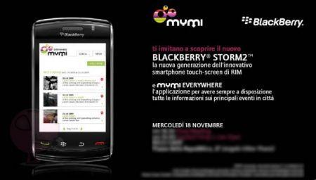 BlackBerry Storm2 9520: Presentazione ufficiale a Milano il 18 novembre 2009