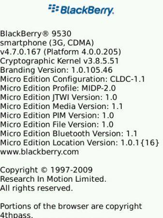 OS 4.7.0.173 per BlackBerry Storm non ufficiale