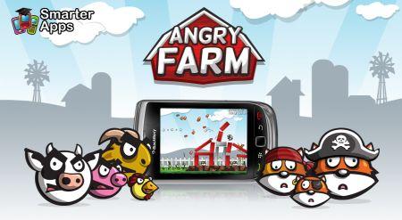 Angry Farm: il clone di Angry Birds per smartphone Rim BlackBerry