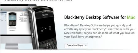 BlackBerry Desktop Manager per Mac scaricabile da ora