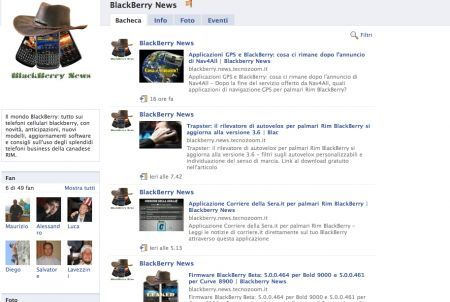 Segui BlackBerry News? Diventa nostro fan su Facebook