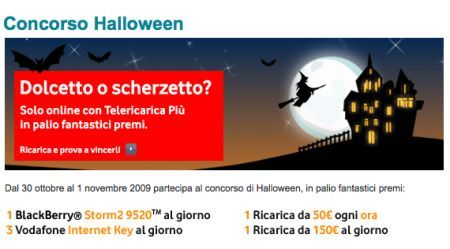 BlackBerry Storm2 9520 in palio nel concorso Hallowen di Vodafone
