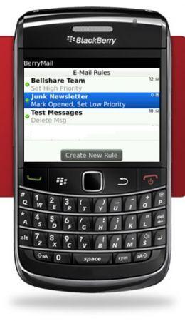 Applicazioni BlackBerry: BerryMail, filtri e regole per le email in arrivo