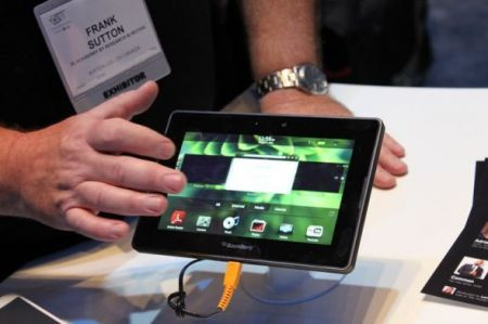 BlackBerry PlayBook in una galleria fotografica del CES 2011