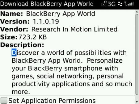 BlackBerry App World si aggiorna alla versione 1.1.0.19