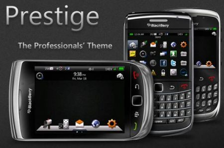 Temi BlackBerry: Prestige, il nuovo tema che offre accesso a tutte le funzioni dal desktop