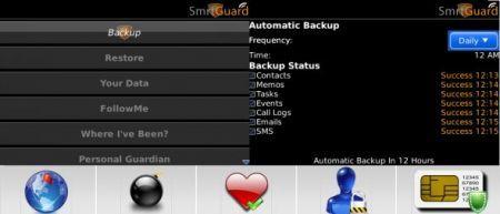 SmrtGuard-Free: Proteggi i dati del tuo palmare Rim BlackBerry con questa applicazione gratis