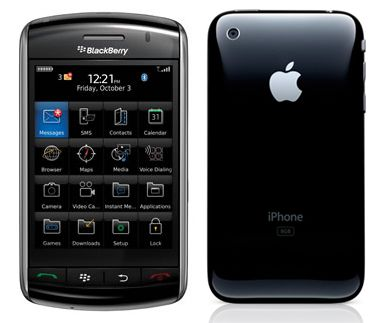 BlackBerry Storm2 9520 VS Iphone 3GS