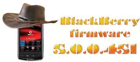 BlackBerry Storm 9500: Firmware 5.0.0.451 ufficiale da Vodafone Australia