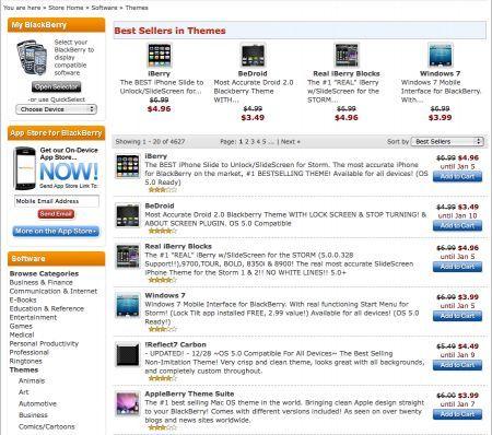 Temi per BlackBerry: Ecco i Best Seller del nostro Store