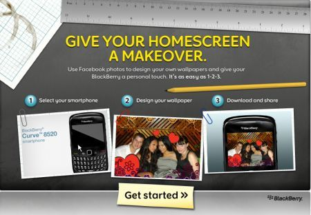 BlackBerry Wallpaper Generator: Crea uno sfondo per il tuo BlackBerry da Facebook