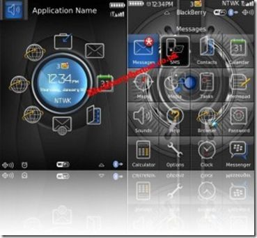 Tema Blue Light Circle Per BlackBerry Storm Blackberry News