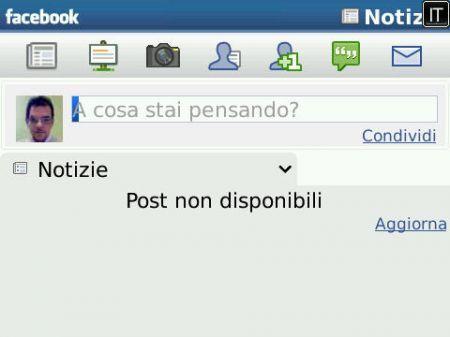Facebook per BlackBerry: Gravi problemi nella giornata di oggi