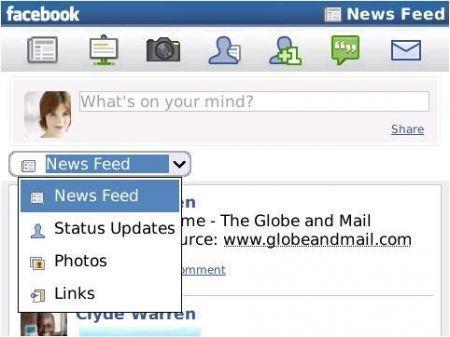 Facebook si aggiorna e introduce la funzione Place anche su BlackBerry