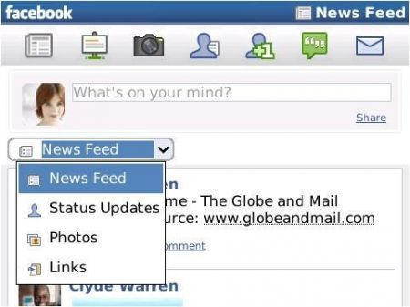 Facebook per BlackBerry: Presto la versione 1.8 e entro l'anno la versione 2.0