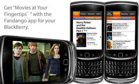 Fandango BlackBerry App