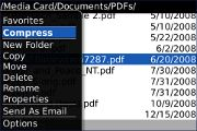 File Manager Pro Beta per Blackberry Storm