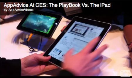 CES 2011: BlackBerry PlayBook a confronto con Apple iPad