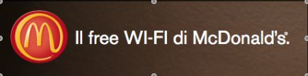 McDonald WiFi Hotspot area