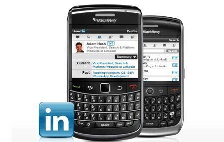 applicazioni BlackBerry: LinkedIn si aggiorna alla v. 1.5.0.8 con diverse migliorie