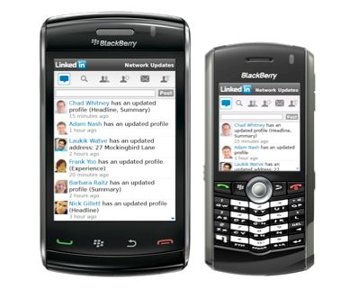 Linkedin per BlackBerry si aggiorna alla v. 1.1 e supporta BlackBerry Storm e BlackBerry Pearl