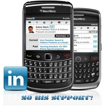 [EDITORIALE]: LinkediIn per BlackBerry senza il supporto al BIS?