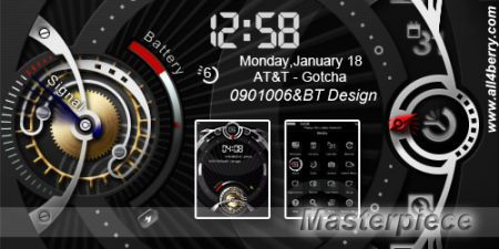 Tema Masterpiece per palmari Rim BlackBerry