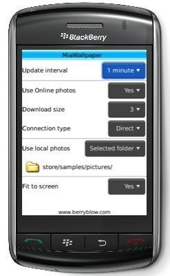 Mya Wallpaper, cambia automaticamente lo sfondo di Blackberry Storm