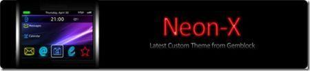 Tema Neon X per BlackBerry Bold