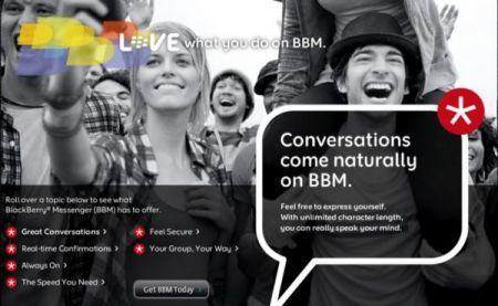 Novità in arrivo per BlackBerry Messenger