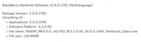 Telefonica Spain rilascia il firmware 5.0.0.1049 per BlackBerry Bold 9000