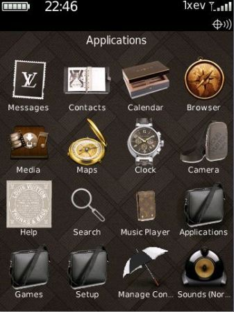 Louis Vuitton: Tema per Blackberry Storm