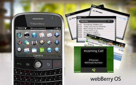 Tema WebBerryOS per BlackBerry 9000 Bold e Curve 8900