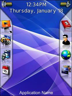 Vitreus: Un tema gratuito da Eveek per BlackBerry Storm, Bold e Curve