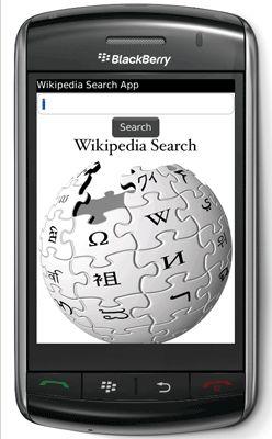 Wikipedia per Blackberry Storm
