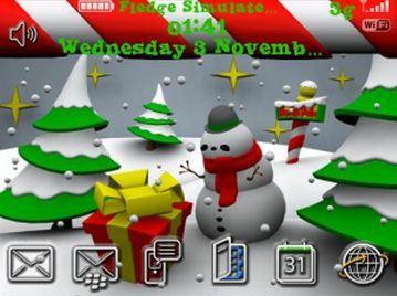 XmasTown, un tema natalizio per il tuo Smartphone RIM BLackBerry