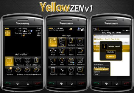 Yellow Zen, ecco un'altro tema per Blackberry Storm